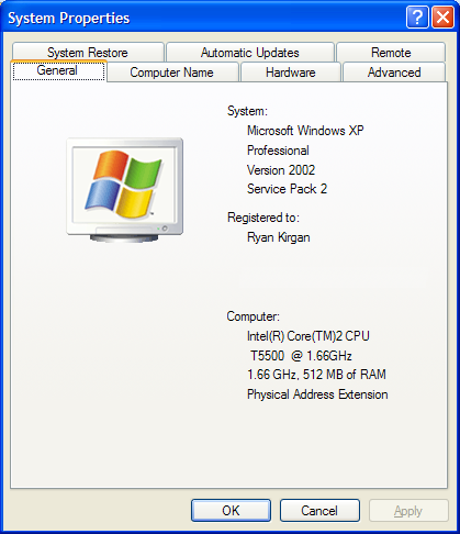 Windows System Properties
