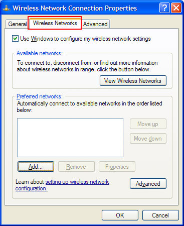 Wireless Networks Tab
