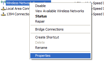 Wireless Network Properties